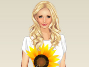 "Play Flash Game: ""Sunflower Princess Dress Up"" Free"